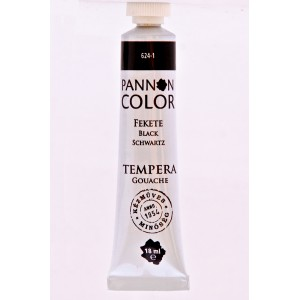 Tempera PANNONCOLOR 18ml 624   fekete