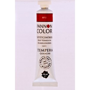 Tempera PANNONCOLOR 18ml 607   sötét cinober
