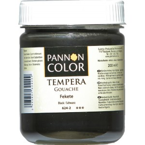 Tempera PANNONCOLOR 200ml 624  fekete