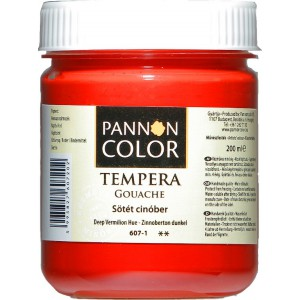 Tempera PANNONCOLOR 200ml 607   sötét cinober