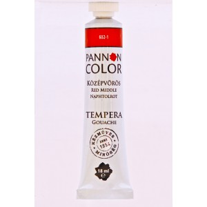 Tempera PANNONCOLOR 18ml 602   középvörös