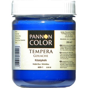 Tempera PANNONCOLOR 200ml 609  középkék