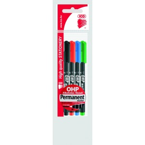 Rost 4klt OHP Top Marker permanent M 1-1,5mm