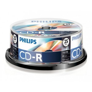 CD-R80 Philips írható    700MB  52x  25dbhenger