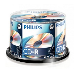 CD-R80 Philips írható    700MB  52x  50dbhenger